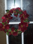Wreath on the side door.