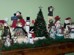 My snowman collection along with the tree my aunt bought for me, my first Christmas after I graduated from college.