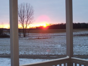 I love watching winter sunrises, the colors are incredible!